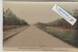 CIRCUIT AUTOMOBILE De La SARTHE :Ligne Droite Avec Emplacements Des Tribunes De L'A.C.F.couleur. édit Lebert. - Unclassified