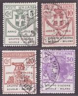 Regno, Serie Parastatali Gruppo D'Azione Scuole Milano Usata (certificato Sottoriva)       -CC72 - 1900-44 Victor Emmanuel III.