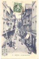 """Dépt 14 - LISIEUX - La Rue Aux Fèves - (G. Artaud, éditeur, N° 11) - Magasin """"AUX CAVES GÉNÉRALES"""" - Lisieux"""
