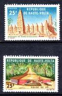 UPPER VOLTA - 1966 RELIGIOUS BUILDINGS SET (2V) FINE MNH ** SG 192-193 - Upper Volta (1958-1984)