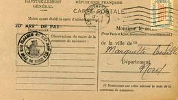 Carte De Ravitaillement, Mairie De  PARIS 20° - Cachet à Date Du 11 Janvier 1947 - Marcophilie (Lettres)
