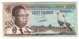 CONGO100FRANCS01/08/1964P6VFREPAIRED.CV. - Congo