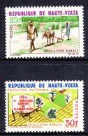 UPPER VOLTA - 1966 RURAL EDUCATION SET (2V) FINE MNH ** SG 201-202 - Upper Volta (1958-1984)