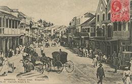 Barbados Roebuck Street Bridgetown   . P. Used Stamped To Montevideo Uruguay . Read Text Muchos Negros ... - Barbades