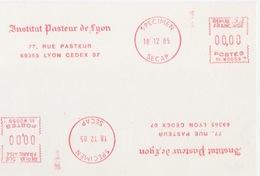 Spécimen D'EMA Secap Institut Pasteur De Lyon, NL W0059 Le 18 12 85, Lyon - Medicina
