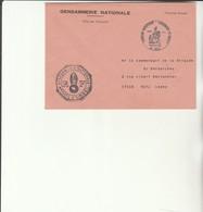 H 4 -  Enveloppe Gendarmerie D'USSEL  Avec Cachet TULLE - Sellos Militares Desde 1900 (fuera De La Guerra)