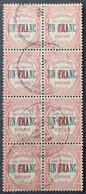 R1615/1687 - 1929/1931 - TIMBRES TAXE - BLOC De 8 TIMBRES - N°63 ☉ - Portomarken