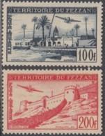 Fezzan (Territoire Militaire) - Poste Aérienne N° 6 & 7 (YT) N° 8 & 9 (AM) Neufs *. - Fezzan (1943-1951)