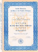 Titre Ancien - Uncirculed - Société Marocaine De Mines Et De Produits Chimiques - Titre De 1958? - Afrika