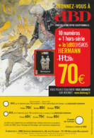 HERMANN : Flyer Abonnement DBD - Livres, BD, Revues