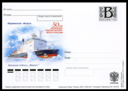 "2009-223 Russia Russland Russie Rusia Card ""B"" Nuclear Icebreaker Fleet. Nuclear Icebreaker 'Vaygach'.Ships - Navi Polari E Rompighiaccio"