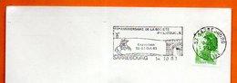 57 SARREBOURG  60° ANNIV. DE LA SOCIETE  PHILATELIQUE 1983 Lettre Entiere N° CD 733 - Postmark Collection (Covers)