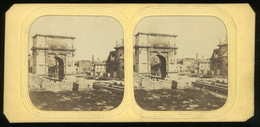 Stereoview - Rome ITALY - Hold-to-light Or Tissue View - Visionneuses Stéréoscopiques