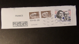 Fragment Enveloppe TP Lucie Et Raymond AUBRAC Et Marianne Engagée (0.05 C X 2) , Cachet 37845A  03-01-20 - Gebruikt