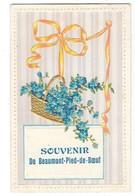 BEAUMONT PIED DE BOEUF (72) Carte Fantaisie Gaufrée Souvenir - Autres Communes