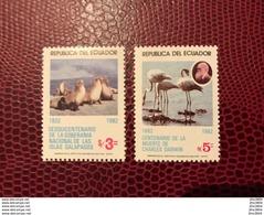 ÉQUATEUR 1982 2 V Neuf ** MNH Mi 1940 1941 Galapagos Bird Of Ecuador - Otros