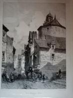 Rue De La Poissonnerie à NANTES - Lithografieën