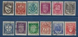 """FR YT 526 à 537 """" Armoiries De Ville """" 1941 Oblitéré - Gebraucht"""