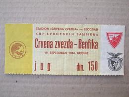 FC RED STAR Belgrade : SL BENFICA Lisboa Portugal - 1984. UEFA CHAMPIONS LEAGUE Football Soccer Match Ticket - Tickets D'entrée