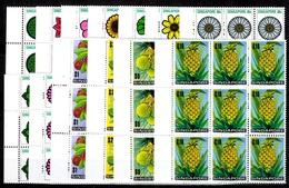 Singapour YT N° 188/200 En Blocs De Neuf Timbres Neufs ** MNH. TB. A Saisir! - Singapour (1959-...)