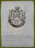 Ex-libris Héraldique, Annoté, Signée - ESPAGNE - JOSE O, DONELL - 1831 - Ex-libris