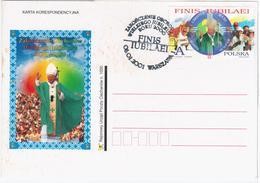 Poland Polska 2000 Giovanni Paolo II John Paul II Pope Popes Jan Pawel II, Canceled 2001 Warszawa, Zakonczenie Obchodow - Interi Postali