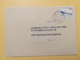 1976 BUSTA  GERMANIA DEUTSCHE BOLLO LUFTANSA  ANNULLO SEINSHEIM OBLITERE' GERMANY - Storia Postale