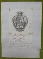 Ex-libris Héraldique, Annoté, Signée - ESPAGNE - JOSE ANTONIO CABALLERO - 1800 - Ex-libris