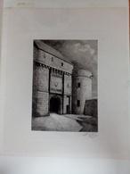 Le Mont Saint Michel La Porte Du Roy - Lithografieën