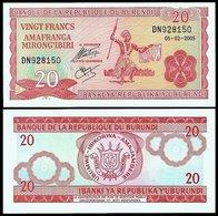Billet Burundi 20 Francs - Burundi