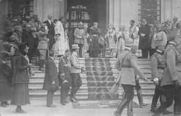20-581 : BUCAREST 1918.  CARTE PHOTO. RECEPTION  MILITAIRE - Roumanie