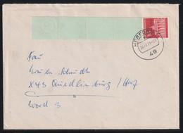 Rollenmarken-Endstreifen Mit MiNr. 508 Auf Brief Von HERFORD Nach QUEDLINBURG - Rolstempels