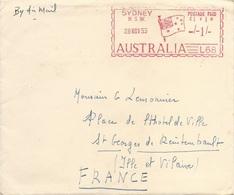 """Australie EMA Universal Postal Frankers Type """"Multi-value"""" De 1955 Avec Drapeau Australien - Buste"""