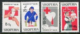 ALBANIA 1967 Red Cross Congress MNH / **.  Michel 1221-24 - Albanie