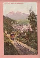 OLD POSTCARD - SWITZERLAND - SCHWEIZ -  SUISSE -    DRAHTSEILBAHN - RAGAZ - SG St. Gall