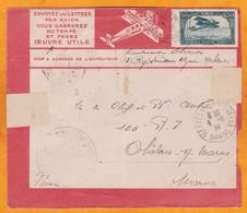 1924 - Enveloppe Par Avion Précurseur Latecoere De Meknes  Vers Chalons Sur Marne, France  Via Rabat - Cartas