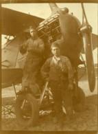 France Aviation Mecaniciens Travaillant Sur Moteur D'Avion Ancienne Photo 1930 - Aviation