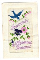 CLERMONT FERRAND (63) Carte Fantaisie Brodée Souvenir De - Clermont Ferrand
