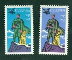 Albania 1965 Frontier Border Patrol Soldier Dog Eagle Michel 932 933 MNH - Albania