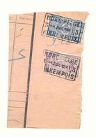 D548a België Spoorwegen  Nord BELGE Stempel KINKEMPOIS 3 Op Fragment - Bahnwesen