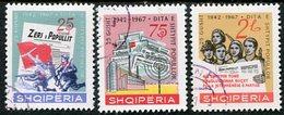 ALBANIA 1967 Albanian Press Used.  Michel 1185-87 - Albanie