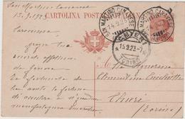 8603.  Cartolina Postale Intero - San Martino Canavese -  Chieri - 1923 - 1900-44 Victor Emmanuel III
