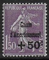 France  N° 268 *  -  Cote : 80 € - Ongebruikt