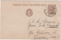 8604.  Cartolina Postale Intero - Arona - 1930 - 1900-44 Victor Emmanuel III