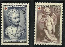 """FR YT 876 & 877 """" Au Profit De La Croix-Rouge """" 1950 Neuf** - Francia"""