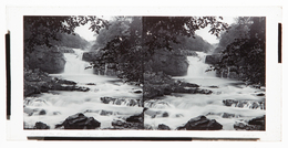 Glass Stereoview - Falls On The Clyde By G.W.Wilson - Stereoscopi