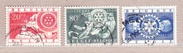 1954 Nr 952-54 Gestempeld (zonder Gom).Rotary International. - Belgien