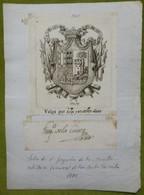 Ex-libris Héraldique, Annoté, Signée - ESPAGNE - GREGORIO DE LA CUSTA - 1801 - Ex-libris
