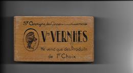 BOITE EN BOIS POUR JEU DE CARTE - Vve VERNHES - Speelkaarten