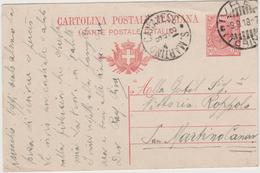 8608.  Cartolina Postale Intero - S. Martino Canavese - Ivrea - 1918 - 1900-44 Victor Emmanuel III